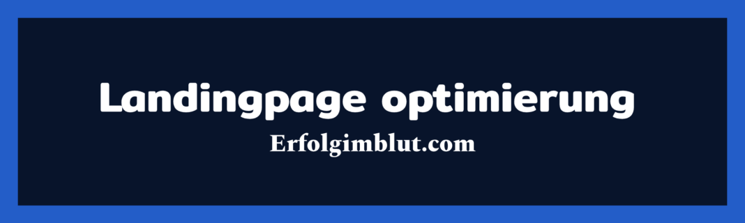 Landingpage optimierung ErfolgimBLut